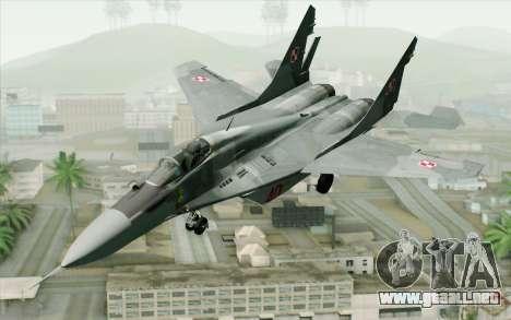 MIG-29 Polish Air Force para GTA San Andreas