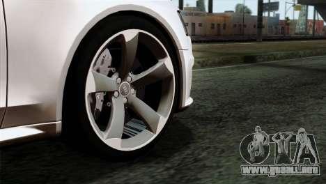 Audi RS4 Avant B8 2013 v3.0 para GTA San Andreas vista posterior izquierda