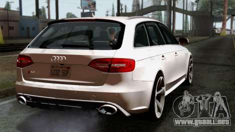 Audi RS4 Avant B8 2013 v3.0 para GTA San Andreas left