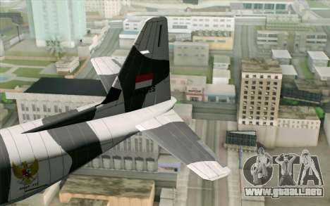 Lockheed C-130 Hercules Indonesian Air Force para GTA San Andreas vista posterior izquierda