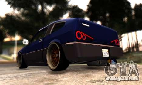 Blista Compact By VeroneProd para GTA San Andreas vista hacia atrás