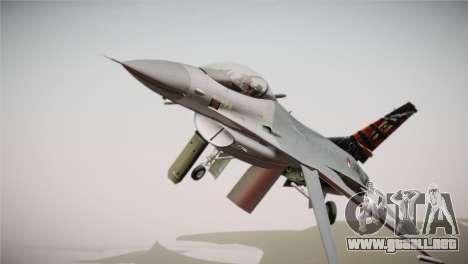 F-16 Fighting Falcon 50th Anniv. of Squadron 313 para la visión correcta GTA San Andreas