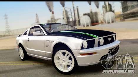 Ford Mustang GT para vista inferior GTA San Andreas