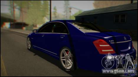Mercedes-Benz S65 AMG 2012 Road version para GTA San Andreas vista posterior izquierda