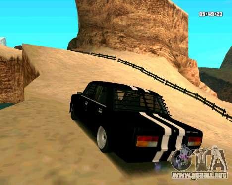 VAZ 2107 CALAMBRES para GTA San Andreas vista posterior izquierda