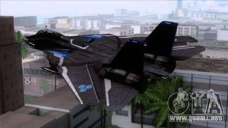 F-14 Neon Blue Macross Frontier para GTA San Andreas left