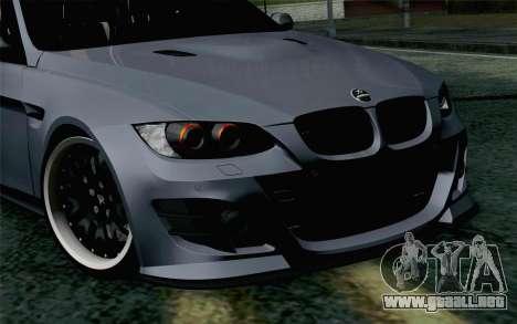 BMW M3 E90 Hamann para GTA San Andreas vista hacia atrás