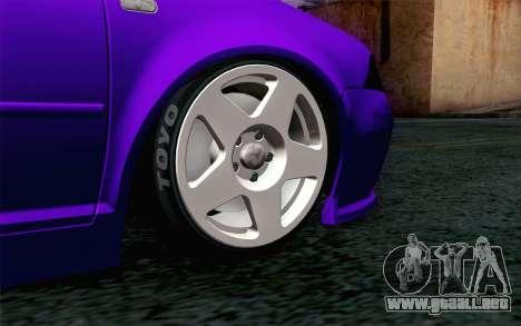 Volkswagen Jetta GLI 2010 TnTuning para GTA San Andreas vista posterior izquierda