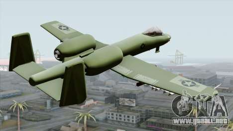 A-10 Warthog Shark Attack para GTA San Andreas left