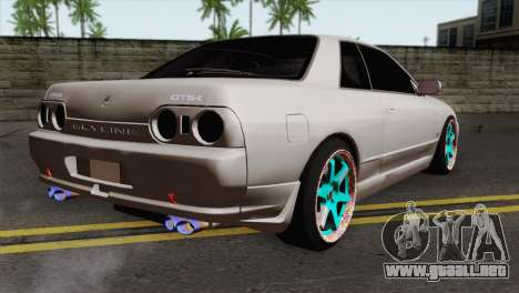 Nissan Skyline R32 Drift JDM para GTA San Andreas left