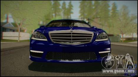 Mercedes-Benz S65 AMG 2012 Road version para GTA San Andreas vista hacia atrás