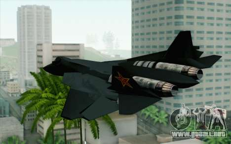 Sukhoi PAK-FA China Air Force para GTA San Andreas left