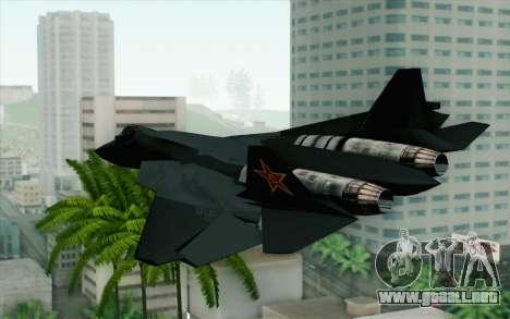 Sukhoi PAK-FA China Air Force para GTA San Andreas left