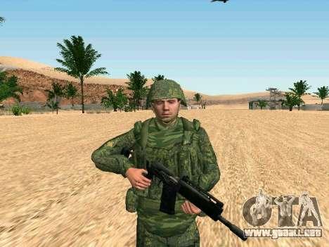 El ejército ruso está en una nueva forma para GTA San Andreas sucesivamente de pantalla