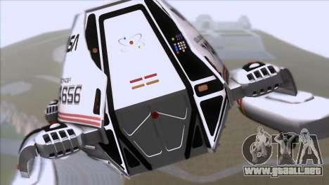 Shuttle v2 Mod 1 para GTA San Andreas vista hacia atrás