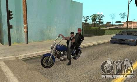 El cambio de las áreas de las pandillas y sus ar para GTA San Andreas novena de pantalla