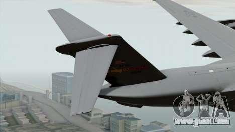 C-17A Globemaster III USAF March para GTA San Andreas vista posterior izquierda