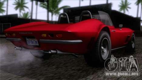 GTA 5 Invetero Coquette Classic TL IVF para GTA San Andreas left