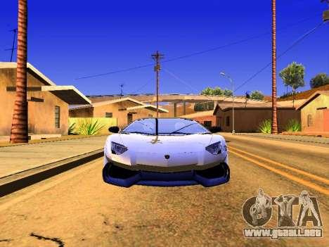Lamborghini Aventador Novitec Torado para GTA San Andreas vista posterior izquierda