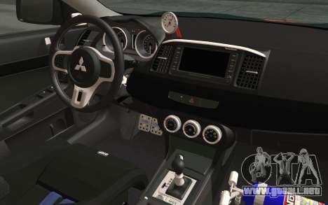 Mitsubishi Lancer Evolution X v2 para GTA San Andreas vista hacia atrás