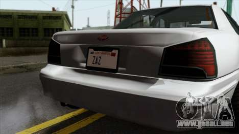 GTA 5 Vapid Stanier II SA Style para GTA San Andreas vista hacia atrás