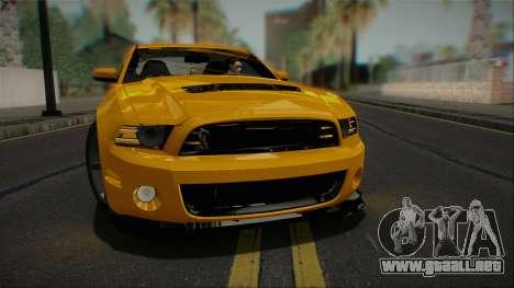 Ford Shelby GT500 2013 Vossen version para GTA San Andreas