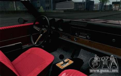 Oldsmobile 442 Holiday Coupe 1969 HQLM para la visión correcta GTA San Andreas