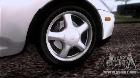 Toyota Supra US-Spec (JZA80) 1993 HQLM para GTA San Andreas vista posterior izquierda