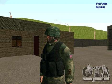 Guerrero batallón de Oriente para GTA San Andreas segunda pantalla