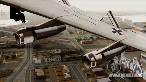 Boeing 707-300 Luftwaffe para la visión correcta GTA San Andreas