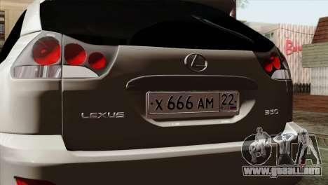 Lexus RX350 2009 para la visión correcta GTA San Andreas