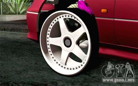 Toyota Aristo para GTA San Andreas vista posterior izquierda