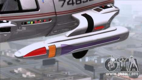 Shuttle v2 Mod 1 para GTA San Andreas vista posterior izquierda