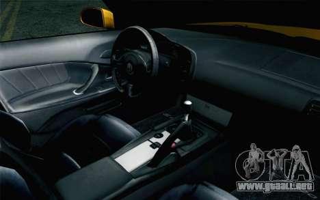 Honda S2000 Cabrio para la visión correcta GTA San Andreas