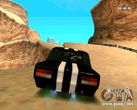VAZ 2107 CALAMBRES para la visión correcta GTA San Andreas