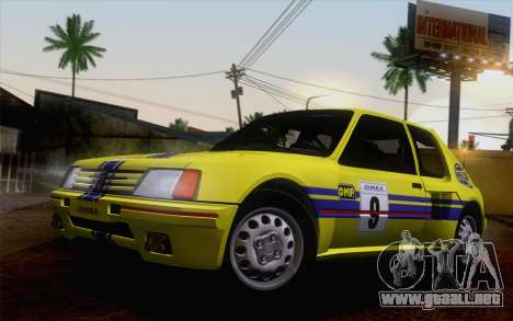 Peugeot 205 Turbo 16 1984 [IVF] para vista inferior GTA San Andreas