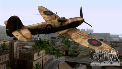 Stanislaw Skalski Supermarine Spitfire MK IXC para GTA San Andreas left