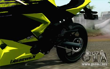 Kawasaki Ninja 250RR Mono Yellow para la visión correcta GTA San Andreas