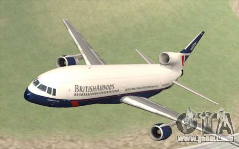 Lookheed L-1011 British Airways para GTA San Andreas