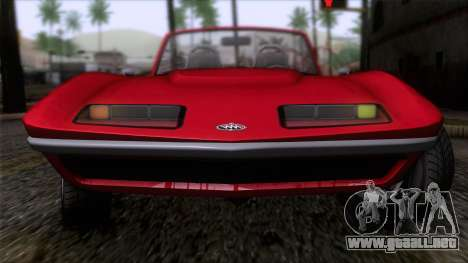 GTA 5 Invetero Coquette Classic TL IVF para GTA San Andreas vista hacia atrás