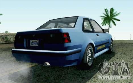 GTA 5 Karin Futo SA Mobile para GTA San Andreas