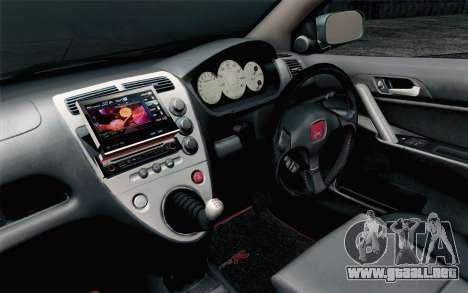 Honda Civic Type R para la visión correcta GTA San Andreas