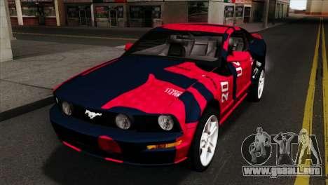 Ford Mustang GT PJ Wheels 1 para GTA San Andreas vista hacia atrás