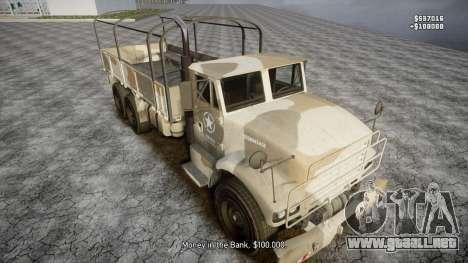 GTA 5 Barracks v2 para GTA 4 ruedas