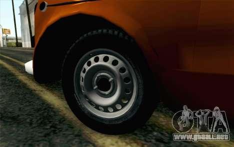 Fiat 600 para GTA San Andreas vista posterior izquierda