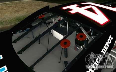 NASCAR Chevrolet Impala 2012 Short Track para GTA San Andreas vista hacia atrás