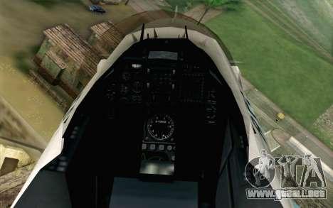 Mitsubishi F-2 Original JASDF Skin para GTA San Andreas vista hacia atrás