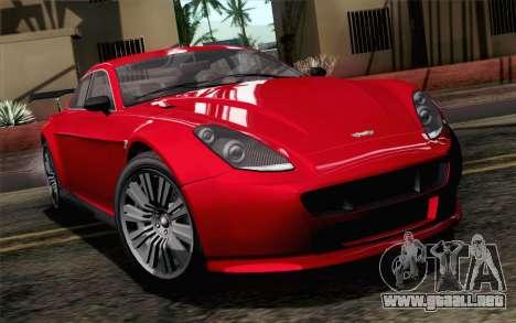 GTA 5 Dewbauchee Exemplar SA Mobile para GTA San Andreas