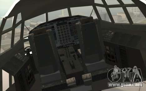 Lockheed C-130 Hercules Indonesian Air Force para GTA San Andreas vista hacia atrás