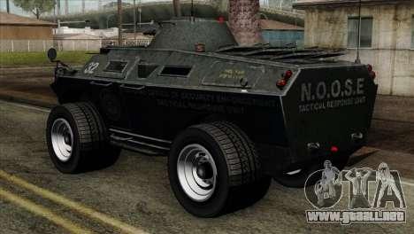 GTA 4 TBoGT Swatvan v2 para GTA San Andreas left